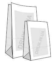 Друк на паперових пакетах з крафту без ручок в Києві.